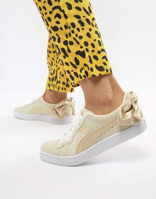 Puma Suede Bow Varsity Gold Sneakers