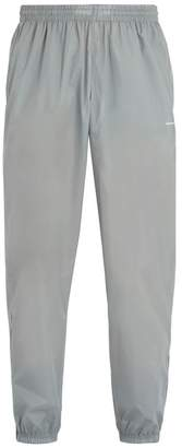 Balenciaga - Logo Print Technical Track Pants - Mens - Grey