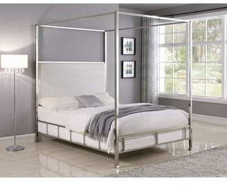Everly Quinn Brimfield Upholstered Canopy Bed Quinn