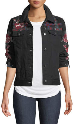 Johnny Was Rae Embroidered Cotton Weekend Jacket