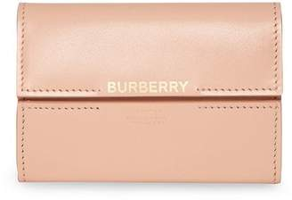 Burberry Horseferry Print Leather Folding Wallet