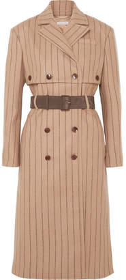 Altuzarra Pinstriped Wool And Cashmere-blend Coat - Sand