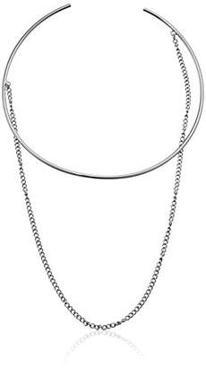 Steve Madden Open Collar with Chain Choker Necklace