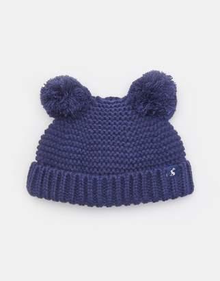 b8c4faf6e26 Joules French Navy Pom Pom Knitted Double Pom Pom Hat Size 1Yr-2Yr