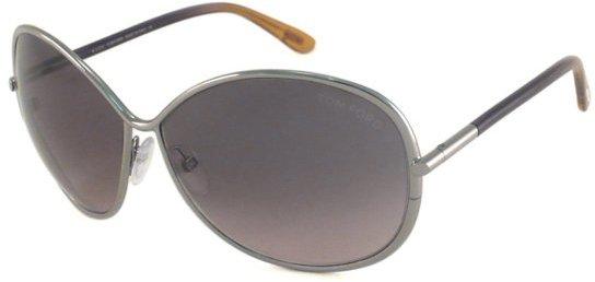 Tom Ford Womens' silver and blue 'Iris' sunglasses