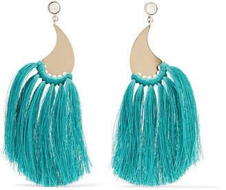 Etro - Gold-tone Tassel Earrings - one size $600 thestylecure.com