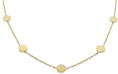 Jennifer Meyer 16 Inch Yellow Gold Circle Necklace