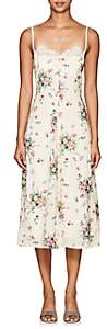 Barneys New York Women's Floral Georgette Slipdress - White