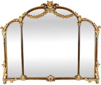 One Kings Lane Vintage Antique Wood Framed Gilt Bevelled Mirror - La Maison Supreme