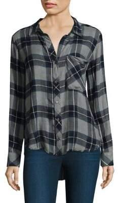 Bella Dahl Fray Hem Button-Down Shirt