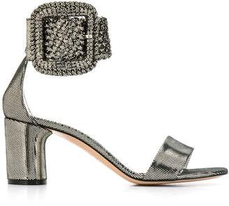 Casadei metallic buckle sandals
