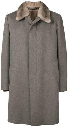 Corneliani midi single-breasted coat