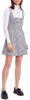 Free People Say No More Plaid Pinafore Minidress