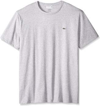 Lacoste Men's Short Sleeve Jersey Pima Regular Fit Crewneck T-Shirt, TH6709-1