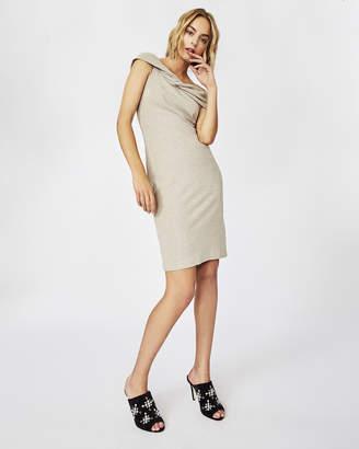 Nicole Miller Sparkle Knit Twist Dress