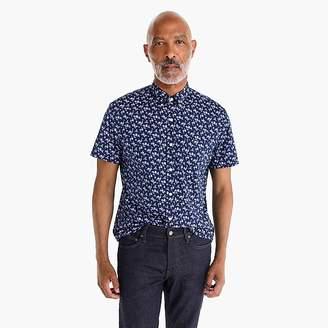 J.Crew Short-sleeve Secret Wash shirt in pale floral print