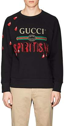 "Gucci Men's ""Spiritismo"" Embellished Cotton Terry Sweatshirt"