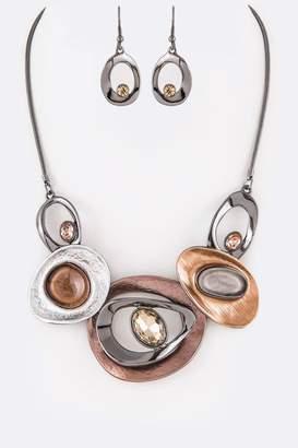 Nadya's Closet Epoxy Crystal Necklace-Set