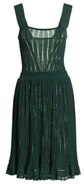 Alaia Falbalas Pleated A-Line Dress