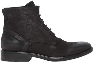 Strategia 20mm Nubuck Leather Lace-Up Boots