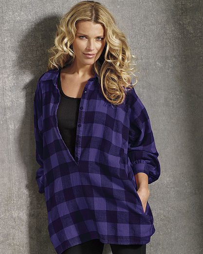 Buffalo Plaid Flannel Tunic Top