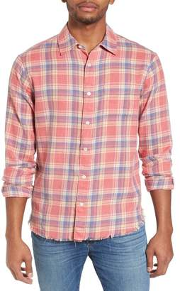 Frame Fray Hem Plaid Flannel Shirt