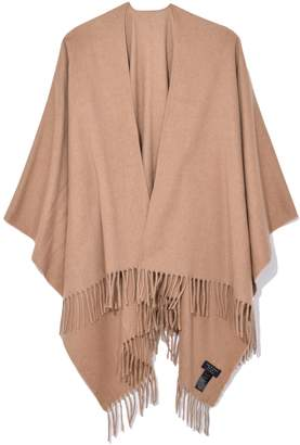 Rag & Bone Cashmere Poncho in Heathered Camel