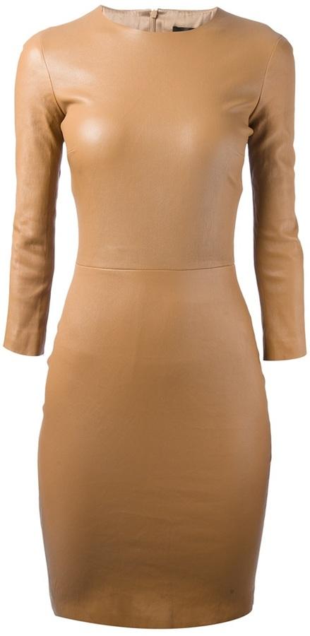 The Row lambskin bodycon dress
