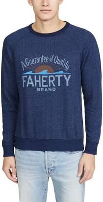 Faherty Logo Crew Neck Tee Shirt