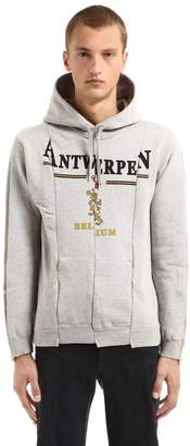 Vetements Antwerpen Cut Up Hooded Sweatshirt