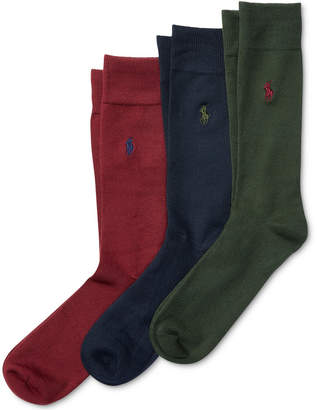 Polo Ralph Lauren Men's 3 Pack Super-Soft Dress Socks