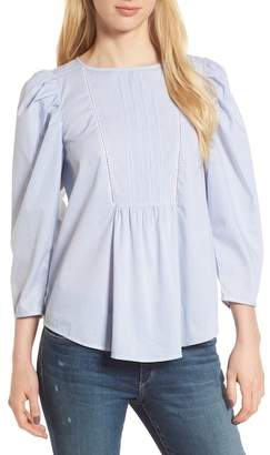 Hinge Puff Sleeve Poplin Top