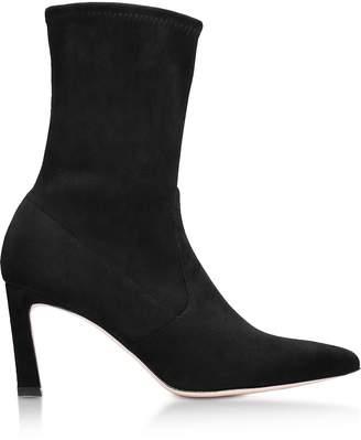 Stuart Weitzman Rapture Black Suede Mid-heel Ankle Boots