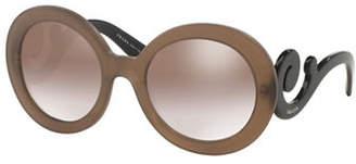 Prada Minimal Baroque Round Sunglasses