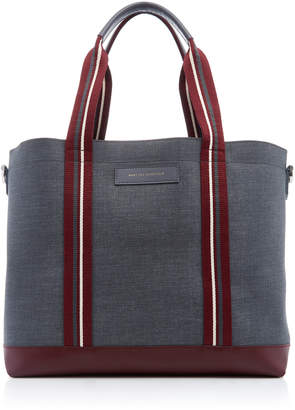 WANT Les Essentiels Marti Leather-Trimmed Canvas Tote