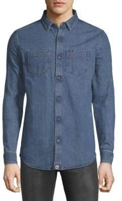 Superdry Rookie Raw Denim Button-Down Shirt