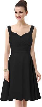 ThaliaDress Womens Chiffon Short Straps Bridesmaid Dresses Prom Gowns T23LF US