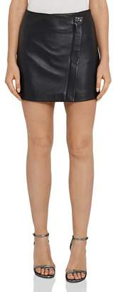 Reiss Fenella Leather Mini Skirt