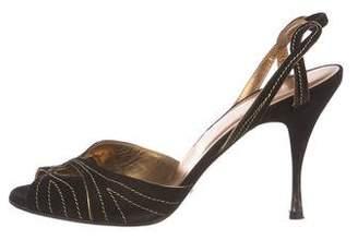 Dolce & Gabbana Slingback Suede Sandals