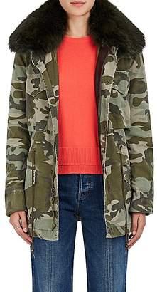 Mr & Mrs Italy Women's Fur-Collar Cotton Canvas Field Jacket