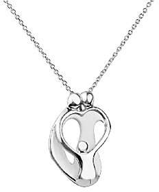 Loving Family Sterling 2 Parent & 1 Child Penda nt with Chain