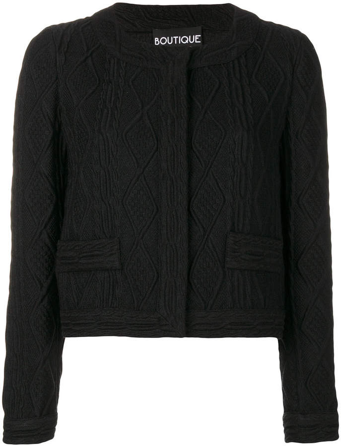 Moschino cropped textured jacket