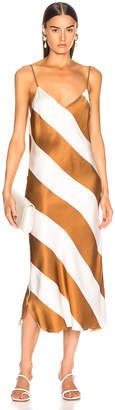 Dodo Bar Or Aline Dress in Camel & White Stripe | FWRD