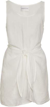 Anémone Tie-Front Ramie Wrap Dress