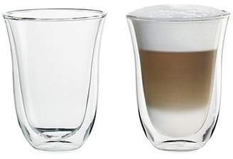 De'Longhi Delonghi Two-Pack Latte Glass Set