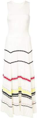 Proenza Schouler striped rib dress white