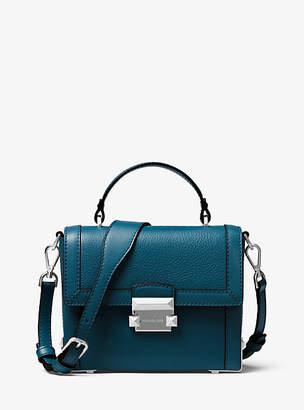 Michael Kors Jayne Small Pebbled Leather Trunk Bag