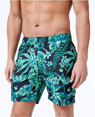 "Cole Men's Tropical-Print 6"" Swim Trunks $54 thestylecure.com"
