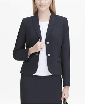 Calvin Klein Flap-Pocket Blazer