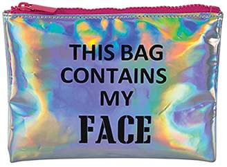 "Harry D. Koenig This Bag Contains My Face"" Cosmetics Bag"